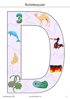 Buchstaben-Puzzle | PDF to Flipbook Schedule Board, Kids Collage, Das Abc, Primary School, Grade 1, Montessori, Preschool, Letters, Logos