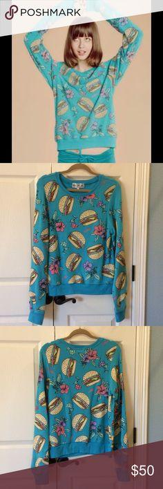 Wildfox Hamburger Baggy Beach Jumper EUC Super cute and soft!  Only worn once.  No flaws. Wildfox Tops Sweatshirts & Hoodies