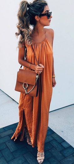 bohochic outfit bag + maxi dress