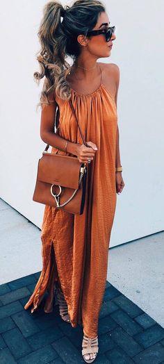 bohochic outfit bag + maxi dress