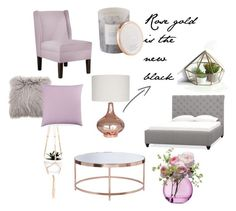 """rose gold girly pink bedroom"" by sofia-ks on Polyvore featuring interior, interiors, interior design, home, home decor, interior decorating, Home Decorators Collection, D.L. & Co., LSA International and Pottery Barn"