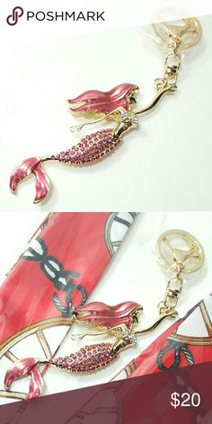 "Rose Red Mermaid Keychain Handbag Charm New Arrival! 1 x Mermaid Keychain Handbag Charm. Cute & Beautiful Keycharm Keychain Bag Charm Handbag Accessories. Pic 2 just sample pls check my closet for combo deal. Size Charms: 6.0""x1.5"" Keycharm Color: Rose Red Gold Plated Bundle any Keycharm in my closet for EXTRA House Gift ^_^ Fast Shipping Final Sale item few in stock only. No return Prestige condition. Bundle offer welcome! Be my VIP today. Carry replacement chain gold, silver or titanium…"
