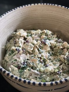 This chicken salad is a favorite everywhere it goes. Everyone asks for the recipe. The fresh dill and parsley take it over the top.