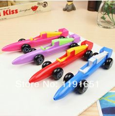Free shipping 4pcs/lot 100% High quality  Rollerball pen gel pen F1  style Korean staionery Creative car design gel pen  $9.90