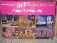 1996 Barbie Doll Living Room Furniture Playset Folding Pretty House 1996 Mattel | eBay