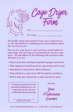 Modern  Matted Pet Release Form  Dog Grooming