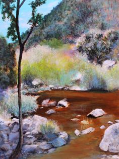 Sabino Canyon Colors  size: 16x20 acrylic on canvas $650.00