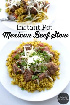 Instant Pot Mexican Beef Stew is an easy recipe when you're in a hurry. It's suitable for Paleo, Whole30, and Trim Healthy Mama lifestyles.