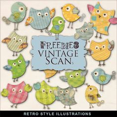 Freebies Retro Style Illustrations