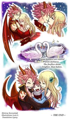 Natsu and Lucy by Leonstar. Natsu look rather adorable in this picture. Nalu Fairy Tail, Fairy Tail Amour, Arte Fairy Tail, Fairy Tail Natsu And Lucy, Fairy Tail Guild, Fairy Tail Ships, Fairy Tail Couples, Fairy Tail Family, Fairytail