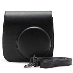 Mignon noir cuir PU Camera Bag Case pour Fujifilm Instax Mini 8 Mini8s