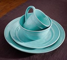 Cambria Dinnerware, 16-Piece Soup Bowl Set, Turquoise | My Shopping ...