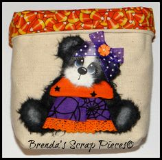 Sewn Treat Bag with Tear Bear Paper Piecing