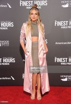 Actress Veronica Dunne arrives at the premiere of Disney's 'The Finest Hours' at TCL Chinese Theatre on January 25, 2016 in Hollywood, California.