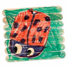 Puzzle planks, make a puzzle out of popsicle sticks