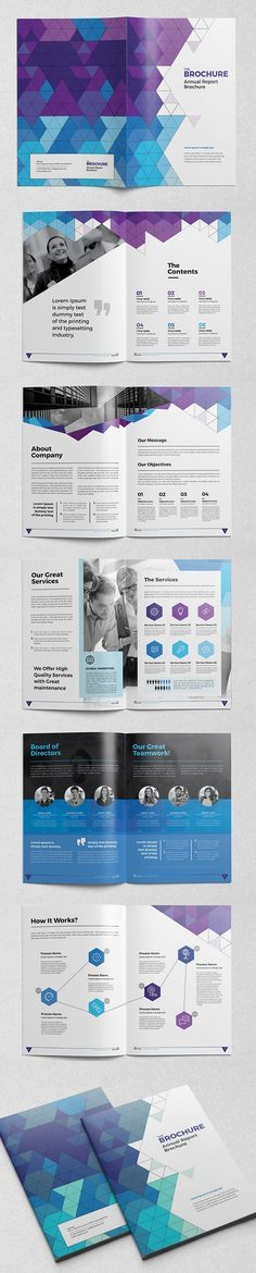 Abstract Brochure / Catalog InDesign Template #booklet #brochuredesign…