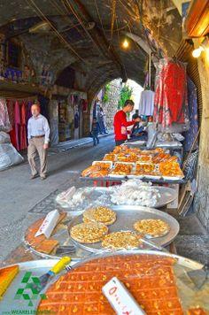Sweets in the old souq in #Tripoli  الحلويات في سوق #طرابلس القديم