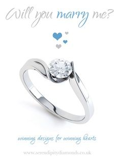R1D078 - Fresh, contemporary and unique amongst twist engagement rings. Complimenting a wide range of existing styles, this twist engagement ring combines a tension style of setting with a beautifully cut round brilliant diamond.