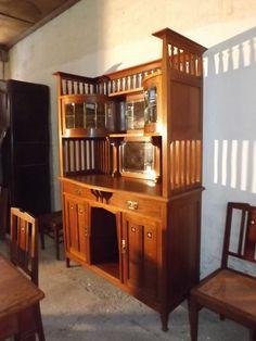 salle a manger chêne art craft buffet table chaises 1900
