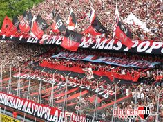 Newells Old Boys de Rosario, Argentina. Hinchada (Club where Messi comes from)