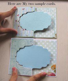 Flip-Card Tutorial using partial die-cutting!