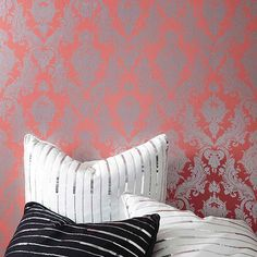 Design that sticks!Self Adhesive, repositionable, temporary wallpaper. Dress up your walls with Tempaper self adhesive damask temporarywall decor. Tempaper is recommended for smooth surfaces that are in good condition. The damask-patterned Tempaper may be applied to any primed and painted surface such as walls, doors, interiors, tiles, or wherever your creative mind takes you. Determine the length and width of your surface area. Based on those measurements you can calculate the total…