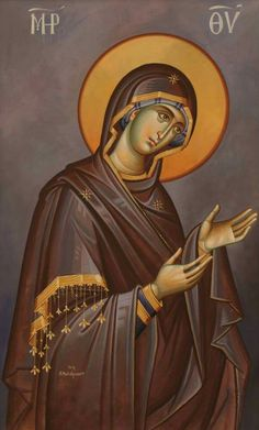 Theotokos from Deisis icon. Byzantine Icons, Byzantine Art, Religious Icons, Religious Art, All Archangels, Writing Icon, Christian Mysticism, Raphael Angel, Archangel Raphael