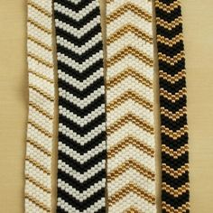 Best Bracelet Perles 2017/ 2018 : Items similar to Chevron Bracelet : Black & White on Etsy