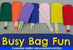 Busy Bag activities for preschool and toddler - lots of great quiet time ideas here by stefanie