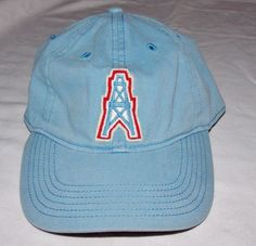 NFL Houston Oilers Vintage Collection Cap Hat Stretch Fitted s M Orchard  Beach  f70c51dab9d9