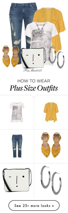 """Front and Center #Plussize"" by penny-martin on Polyvore featuring navabi, Lulu Guinness, Belk & Co. and Argento Vivo"