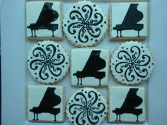 musical cookies for a piano recital