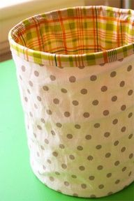 10 tutorials for sewing fabric baskets, bins, or buckets.