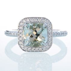 Hey, I found this really awesome Etsy listing at https://www.etsy.com/listing/105439430/14k-white-gold-cushion-cut-green