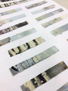Love this presentation Emily Notman - Samples Textiles Sketchbook, Art Sketchbook, Textiles Techniques, Art Techniques, Sketchbook Inspiration, Art Abstrait, Mark Making, Textile Artists, Portfolio