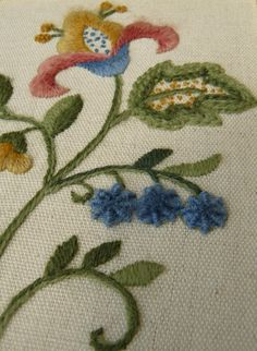 Floral Starter beginner crewel embroidery by ColeshillCollection