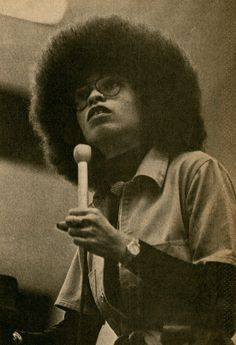 Angela Davis comes to Appleton, Wisconsin. Photo by Philip Michael Walker for Bugle American (1976)