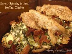 Bacon, spinach, feta chicken