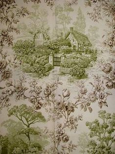 A darling toile drapery fabric designed by P Kaufmann.  ~Splendor