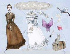 Emily Dickinson paper doll.