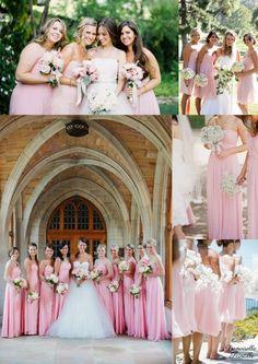 robe de demoiselles d'honneur rose poudré  bridesmaid dresses