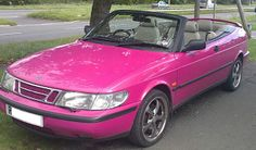 SAABLOG-IN, le blog Saab: Pink Saab Convertible for sale on Ebay