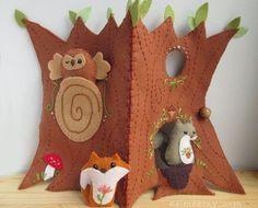Squirrel's Happy Tree Home felt quiet book PDF par littledear