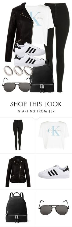"""Sin título #12096"" by vany-alvarado ❤ liked on Polyvore featuring Topshop, Calvin Klein, New Look, adidas Originals, MICHAEL Michael Kors, Yves Saint Laurent and ASOS"