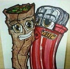 Blunt & Lighter One Love Weed Art Stoner Memes Arte Dope, Dope Art, Trippy Drawings, Art Drawings, Medical Marijuana, Cannabis Oil, Graffiti Art, Psychedelic Art, Clown Tattoo