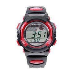 BestOfferBuy Reloj Deportivo Unisex Informal Digital Silicona Hacer Ejercicio Rojo