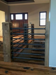 Modern Stair Railing Designs That Are Perfect! Looking for Modern Stair Railing Ideas? Check out our photo gallery of Modern Stair Railing Ideas Here.Looking for Modern Stair Railing Ideas? Check out our photo gallery of Modern Stair Railing Ideas Here. Pipe Railing, Loft Railing, Porch Railings, Railing Design, Metal Handrails For Stairs, Metal Deck Railing, Indoor Railing, Metal Spindles, Modern Railing