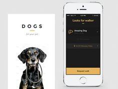 Hi Dribbblers ! Concept screen for pet walker app.  like my  Instagram  Facebook   Click L if you like it!