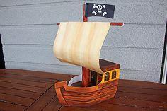 pirátská loď - šablony