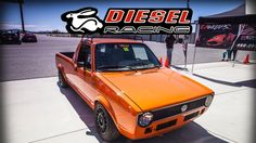 1981 VW Rabbit Pickup Diesel at the half a mile races #Volkswagen #VW #golf #cartweet #PKW #cars #Passat #beetle #polo #car